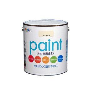 アサヒペン 水性多用途EX 青 (全20色) [1.6L] 水性アクリル樹脂塗料