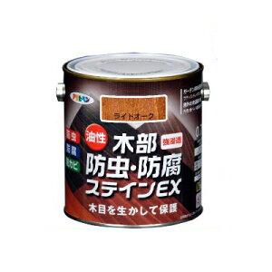 アサヒペン 油性 木部防虫・防腐ステインEX チーク (全5色) [1.6L] 着色半透明・油性塗料