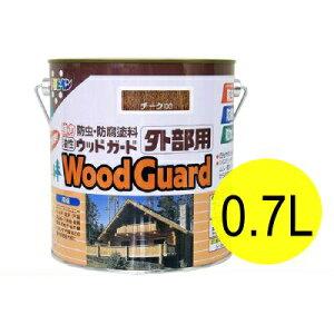 アサヒペン 油性 ウッドガード外部用 ライトオーク 02 (全10色) [0.7L] 着色半透明・油性塗料