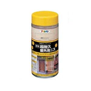 アサヒペン 油性 超耐久屋外用ニス [300ml]アサヒペン・木部・ニス・ガーデン用品・玄関ドア ・紫外線吸収剤