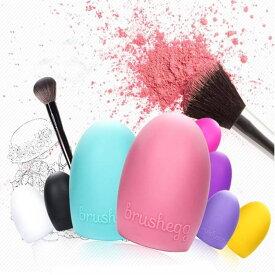 【ゆうメール 送料無料】化粧ブラシ クリーナー シリコン洗濯板 メイクブラシ クリーナー 洗浄ブラシ ピンクBrushegg Makeup Brush Cleaners