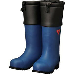 SHIBATA 防寒安全長靴セーフティベアー#1001白熊/フード付きネイビー/イエロー/ブラック