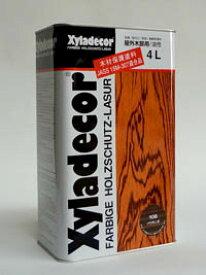 【キシラデコール 4L】注ぎ口付 DIY ペンキ ウッドデッキ ログハウス 木部塗装