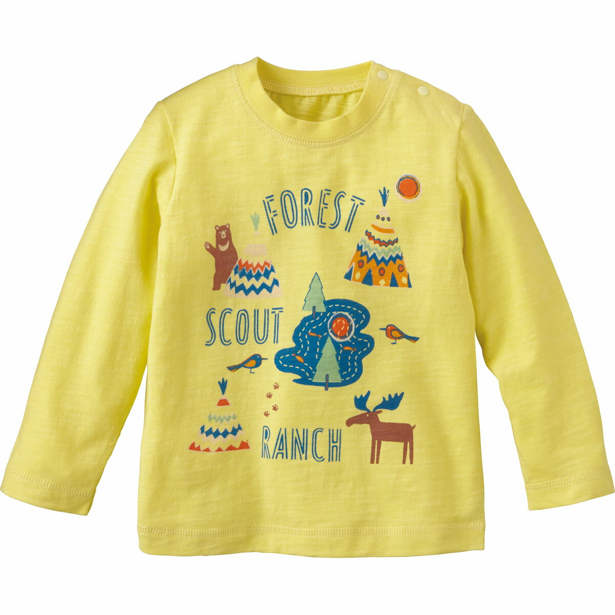 【40%OFF】Tシャツ(グランピング)《コンビミニ》ギフト ベビー服 子供服 Combi mini トップス_gp 男の子 女の子 長袖_Pup