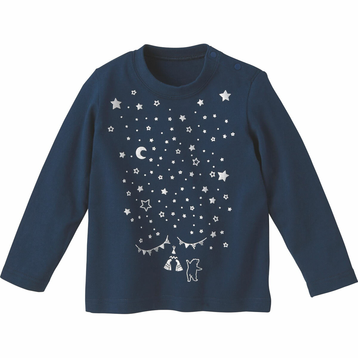 Tシャツ(ティピー)《コンビミニ》ギフト ベビー服 子供服 Combi mini おでかけ 秋 冬 トップス_Pup