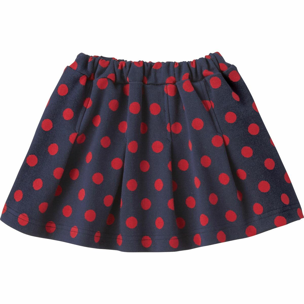 プリーツ スカート(ドット)《コンビミニ》ギフト ベビー服 子供服 Combi mini おでかけ 秋 冬 はおりもの 女の子 スカート_Pup