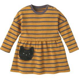 e2c766430bcfc ワンピース(ねこボーダー)《コンビミニ》ギフト ベビー服 子供服 Combi mini おでかけ 秋