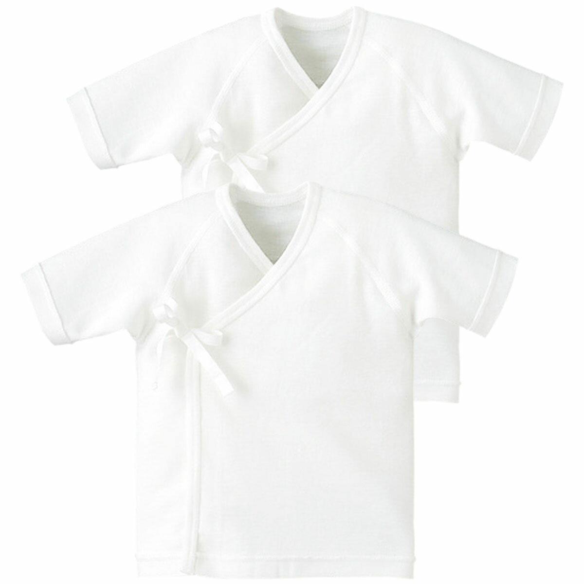 【20%OFF】短肌着2枚組 《コンビミニ》 ベビー 子供 Combi mini 新生児服 肌着 秋冬 肌着セット 男の子 女の子 7分袖