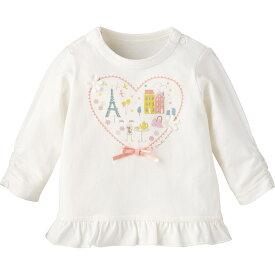 【50%OFF】Tシャツ(パリ){女の子}《コンビミニ》ギフト ベビー服 子供服 Combi mini ベビー 女の子 おでかけ 長袖 長そで ピンク ホワイト 白 Tシャツ _19ss_Pup
