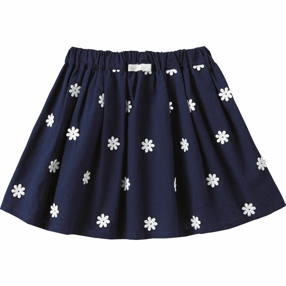 スカート(ふんわりフラワー){女の子}《コンビミニ》ギフト ベビー服 子供服 Combi miniスカート(ふんわりフラワー)
