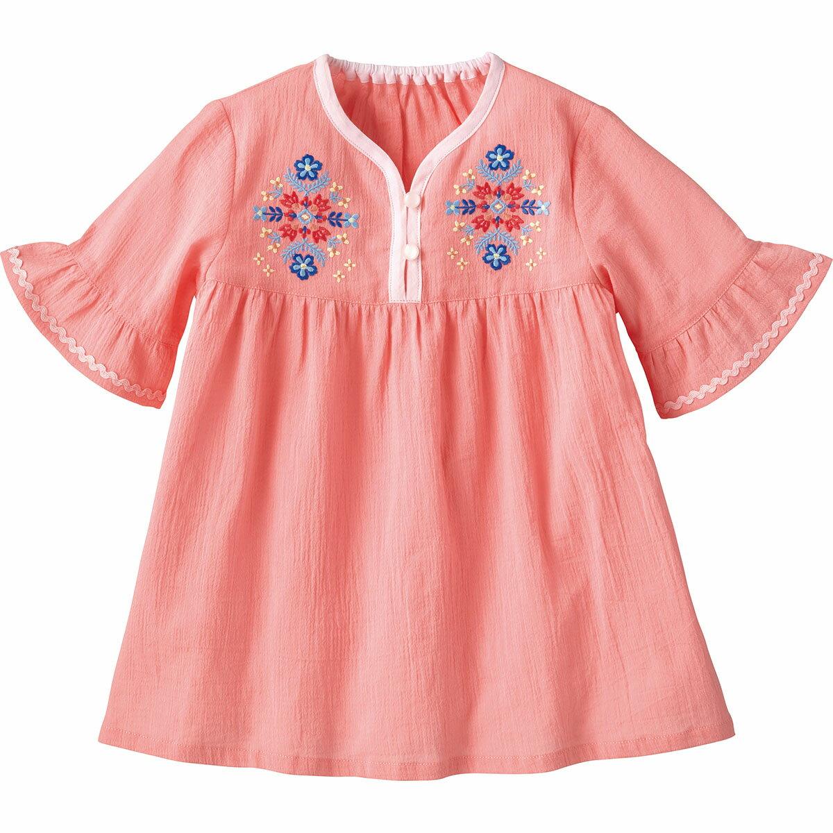 5分袖チュニック{女の子}《コンビミニ》ギフト ベビー服 子供服 Combi mini5分袖チュニック 120 ピンク