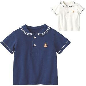 やわらか鹿の子ポロシャツ{男の子 女の子}《コンビミニ》ギフト ベビー服 子供服 Combi miniやわらか鹿の子ポロシャツ 120 ロイヤルブルー