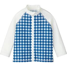ラッシュガード(ギンガム) | チェック ブルー 長袖 80cm 90cm 100cm 110cm 120cm 水着 男の子 女の子 おしゃれ 可愛い ベビー キッズ 子供服 コンビミニ