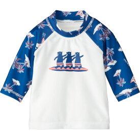 ラッシュガード(サーフィンクマ) | 7分袖 ブルー 水着 80cm 90cm 100cm 110cm 120cm 男の子 女の子 おしゃれ 可愛い ベビー キッズ 子供服 コンビミニ