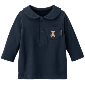 【20%OFF】《コンビミニ》くま襟シャツ : 男の子 女の子  