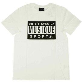 アニエスベー オム Tシャツ 1333-Q794 agnes b. HOMME メンズ 半袖 丸首 SPORT ホワイトxブラック サイズ1
