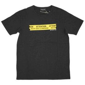 アニエスベー オム Tシャツ 0119-Q804 agnes b. HOMME メンズ 半袖 丸首 SPORT b. ブラックxイエロー サイズ1