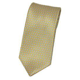 ポイント5倍以上! ブルガリ ネクタイ 240491 メンズ プリント デザイン イエローオーカー/ブルー/プラム 紙袋付き