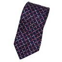 ブルガリ ネクタイ 240525 メンズ プリント デザイン ネイビー/ピンク/グレー 紙袋付き【あす楽対応】【YDKG-tk】 楽天カード分割