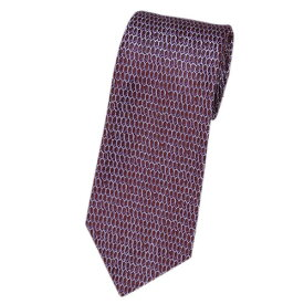 ポイント5倍以上! ブルガリ ネクタイ 241571 メンズ ジャガード デザイン バーガンディー/ライトパープル 紙袋付き