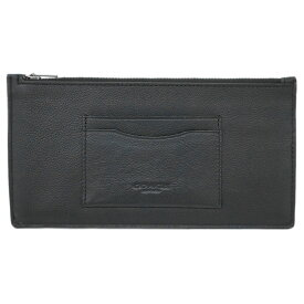 3596aca21f5d コーチ カードケース F37892-QB/BK COACH メンズ ポーチ ジップ フォーン ウォレット ブラック アウトレット