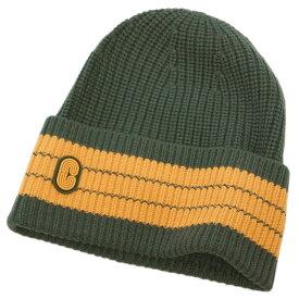 コーチ 帽子 4920-R84 COACH メンズ ニットキャップ ストライプ ビーニー ウィズ コーチ パッチ ウール100% ロジン アウトレット