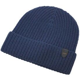 コーチ 帽子 86553-NAV COACH メンズ ニットキャップ メリノ ウール リブ ニット ハット ウール100% ネイビー アウトレット