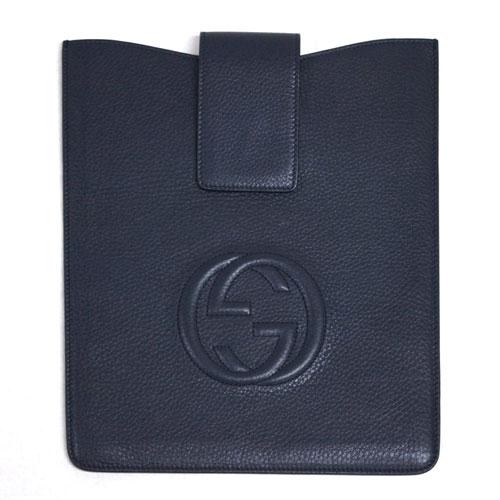 グッチ アクセサリー 305986-4009 GUCCI iPadケース ソーホー カーフ ネイビー アウトレット