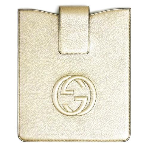 グッチ アクセサリー 305986-9504 GUCCI iPadケース ソーホー カーフ メタリックシャンパン アウトレット