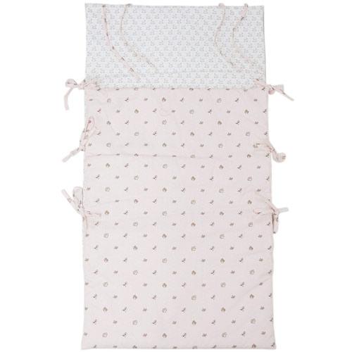 エルメス ベビー シュラフ H102177M01 HERMES おくるみ ソルド アニモー・ドゥ・ラ・フォレ コットン ローズパール/ピンク 寝袋
