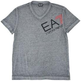 ポイント5倍以上! アルマーニ Tシャツ メンズ エンポリオ アルマーニ Vネック 半袖 EA7 プリント 杢グレー Sサイズ 30702 あす楽対応【期間:7月26日 1時59分まで】