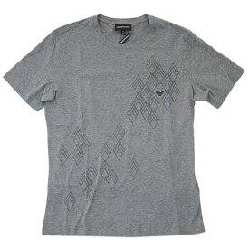 ポイント5倍以上! アルマーニ Tシャツ メンズ エンポリオ アルマーニ EA7 丸首 半袖 プリント メランジグレー/ブラック Mサイズ 19302 あす楽対応【期間:7月26日 1時59分まで】