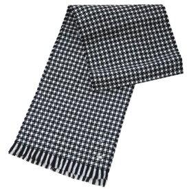 ヒューゴ・ボス マフラー HUGO BOSS ボス メンズ  ウール100% ブラック/グレー/ホワイト 17103 アウトレット あす楽対応