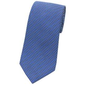 ランバン LANVIN メンズ ネクタイ ジャガード デザイン シルク100% ブルー/グレー 31402 あす楽対応