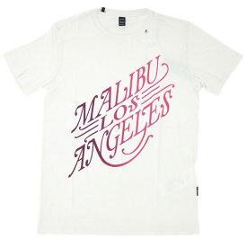 リプレイ Tシャツ M3275 REPLAY メンズ 半袖 丸首 プリント MARIBU LOS ANGELES オフホワイト あす楽対応