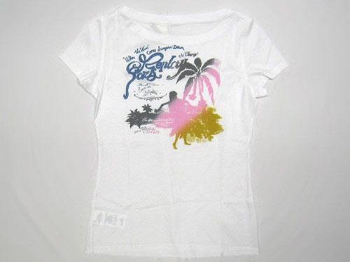 リプレイ&サンズ Tシャツ キッズ 半袖 ボートネック HAWAII バックプリント ホワイト XLサイズ