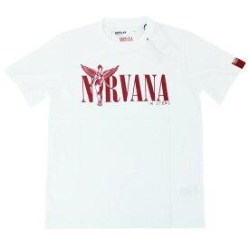 リプレイ Tシャツ M3663 REPLAY メンズ 半袖 丸首 プリント NIRVANA ホワイト/レッド Mサイズ 19602 あす楽対応