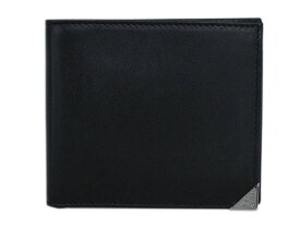 プラダ 財布 2MO513 メンズ 二つ折り 札入れ ヴィテッロ ボックス NERO ネロ カーフブラック シルバー金具 あす楽対応