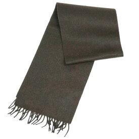 プラダ マフラー USC128 カシミア/ウール 無地  EBANO エバノ ブラウン ロゴ刺繍 あす楽対応 キャッシュレスで5%還元!