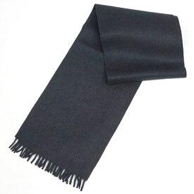 プラダ マフラー USC128 カシミア/ウール 無地 NERO ネロ ブラック ロゴ刺繍 キャッシュレスで5%還元!