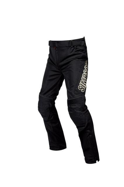 【メンズ】SMP-8111【ブラック】【MWサイズ】メッシュパンツ シンプソン【メッシュ】【膝プロテクター標準装備】【対応ジャケットと連結可能】【コンビニ受取対応商品】