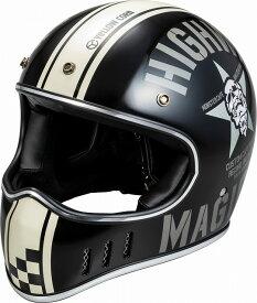 【あす楽】YBFH-002【マットブラック】【フリーサイズ】YC スカルスター ヘルメット イエローコーン