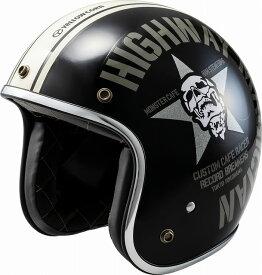 【あす楽】YBJH-003【ブラック】【フリーサイズ】YC スカルスター ヘルメット イエローコーン