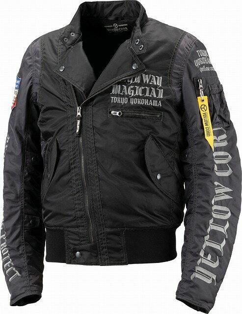 【メンズ】YB8301【ブラック】【3Lサイズ】ウィンタージャケット イエローコーン【防寒】【肩・肘・背中プロテクター標準装備】