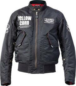 あす楽 イエローコーン/YeLLOW CORN ウィンタージャケット バイク/ジャケット/メンズ ブラック 3Lサイズ YB-0302