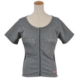 【レディース】ROPRO-09【グレー】【Mサイズ】レディースプロテクションTシャツ ROSSO【肩・背中・胸部】