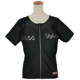 【レディース】ROPRO-09【ブラック】【Lサイズ】レディースプロテクションTシャツ ROSSO【肩・背中・胸部】