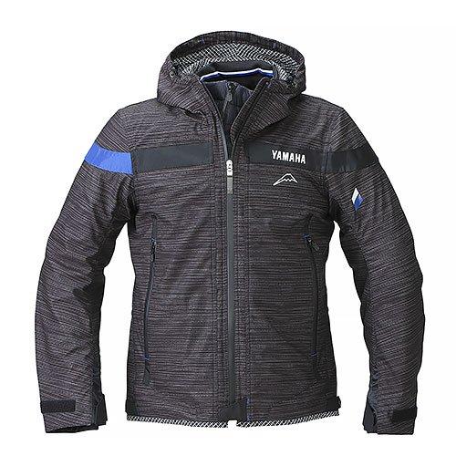 YAF54K【ブラック】【3Lサイズ】Motoウィンターフーデットジャケット ヤマハ×クシタニ【防風】【脱着式防寒インナー装備】【ストームガード】【肩・肘・背中プロテクター標準装備】