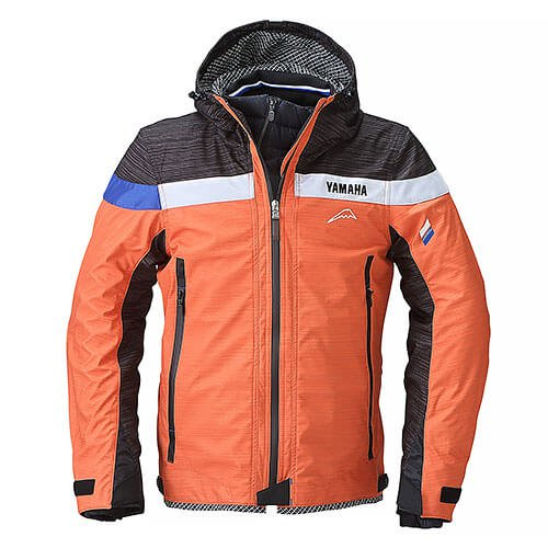 YAF54K【オレンジ】【3Lサイズ】Motoウィンターフーデットジャケット ヤマハ×クシタニ【防風】【脱着式防寒インナー装備】【ストームガード】【肩・肘・背中プロテクター標準装備】