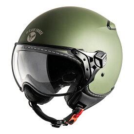 【あす楽】【ヒューストン】HTVH-1901-F パイロットヘルメット 【フリーサイズ】【カラー マットカーキ】